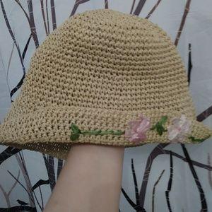 Accessories - Flower floppy bucket hat